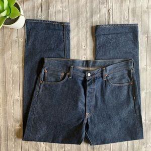 Levi's 501 Dark Wash Mens Jeans 36x32